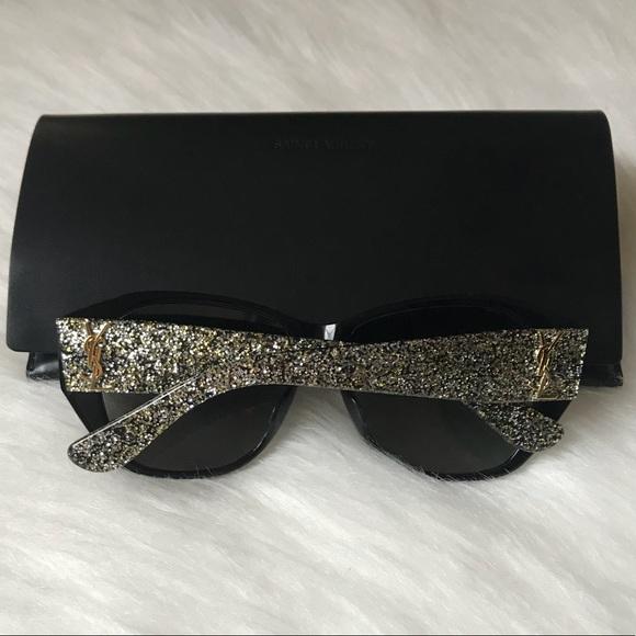 27e177941ec1 YSL gold   silver glitter sunglasses